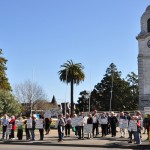 Anti Methyl Bromide protesters in Blenheim
