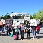 Anti Methyl Bromide protesters outside Blenheim Council building