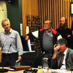 Pete addresses the Council Meeting in Blenheim